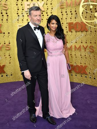 Charlie Brooker, Konnie Huq. Charlie Brooker, left, and Konnie Huq arrive at the 71st Primetime Emmy Awards, at the Microsoft Theater in Los Angeles