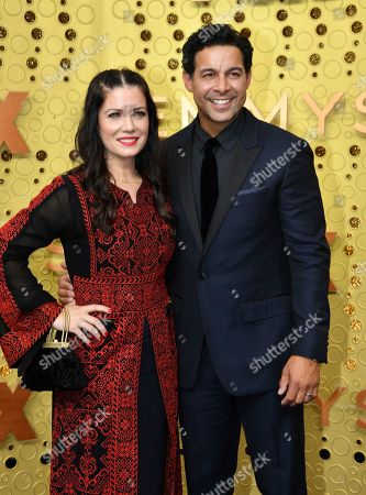 Nicole Bordges, Jon Huertas. Nicole Bordges, left, and Jon Huertas arrive at the 71st Primetime Emmy Awards, at the Microsoft Theater in Los Angeles