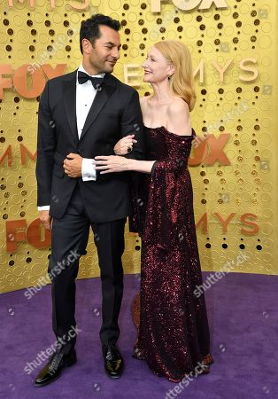 Patricia Clarkson, Darwin Shaw. Darwin Shaw, left, and Patricia Clarkson arrive at the 71st Primetime Emmy Awards, at the Microsoft Theater in Los Angeles