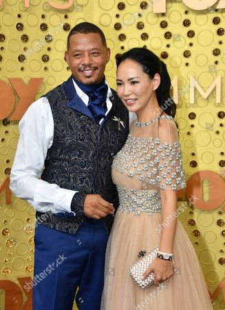 Terrence Howard, Mira Pak. Terrence Howard, left, and Mira Pak arrive at the 71st Primetime Emmy Awards, at the Microsoft Theater in Los Angeles