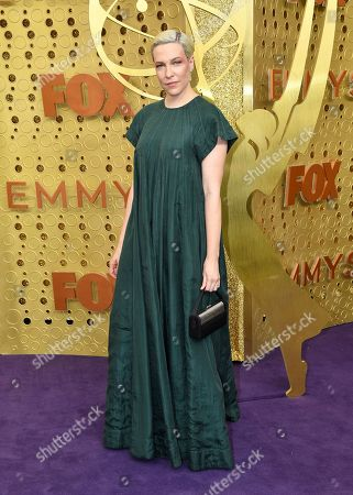 Rebecca Henderson arrives at the 71st Primetime Emmy Awards, at the Microsoft Theater in Los Angeles