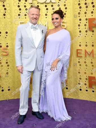 Allegra Riggio, Jared Harris. Jared Harris, left, and Allegra Riggio arrive at the 71st Primetime Emmy Awards, at the Microsoft Theater in Los Angeles