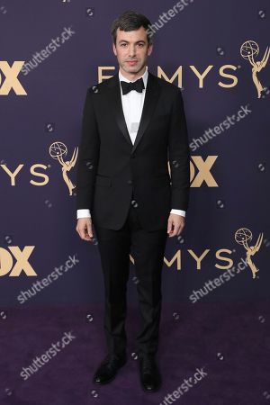 Nathan Fielder arrives at the 71st Primetime Emmy Awards, at the Microsoft Theater in Los Angeles