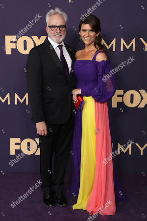 Bradley Whitford, Amy Landecker. Bradley Whitford, left, and Amy Landecker arrive at the 71st Primetime Emmy Awards, at the Microsoft Theater in Los Angeles