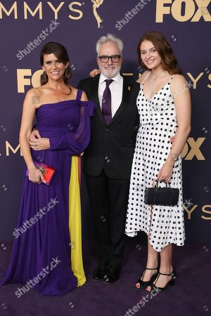 Amy Landecker, Bradley Whitford, Mary Louisa Whitford. Amy Landecker, from left, Bradley Whitford, and Mary Louisa Whitford arrive at the 71st Primetime Emmy Awards, at the Microsoft Theater in Los Angeles