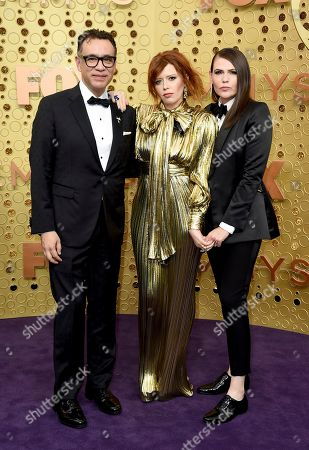 Fred Armisen, Natasha Lyonne, Clea DuVall. Fred Armisen, from left, Natasha Lyonne and Clea DuVall arrive at the 71st Primetime Emmy Awards, at the Microsoft Theater in Los Angeles