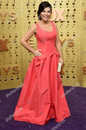 Stock Image of Nilou Motamed arrives at the 71st Primetime Emmy Awards, at the Microsoft Theater in Los Angeles
