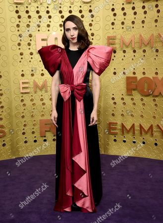 Zoe Kazan arrives at the 71st Primetime Emmy Awards, at the Microsoft Theater in Los Angeles