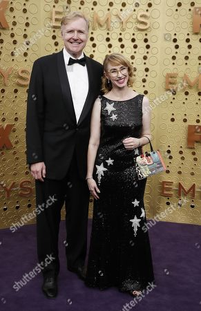 Stock Picture of Kira Snyder (R) and Allen Blue arrives for the 71st annual Primetime Emmy Awards ceremony held at the Microsoft Theater in Los Angeles, California, USA, 22 September 2019. The Primetime Emmys celebrate excellence in national primetime television broadcasting.