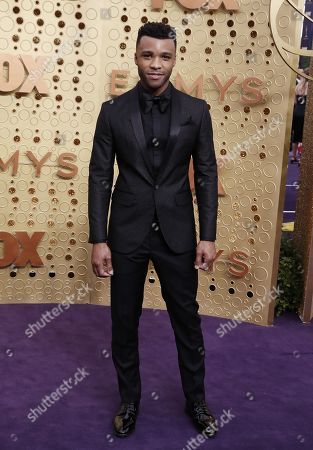 Dyllon Burnside arrives for the 71st annual Primetime Emmy Awards ceremony held at the Microsoft Theater in Los Angeles, California, USA, 22 September 2019. The Primetime Emmys celebrate excellence in national primetime television broadcasting.