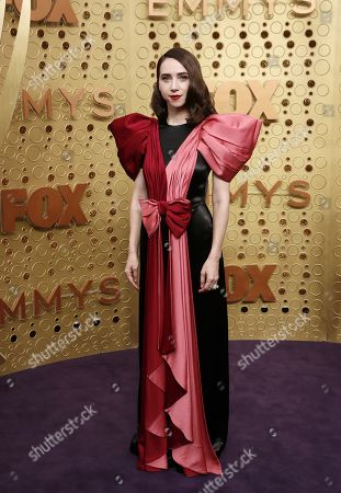Zoe Kazan arrives for the 71st annual Primetime Emmy Awards ceremony held at the Microsoft Theater in Los Angeles, California, USA, 22 September 2019. The Primetime Emmys celebrate excellence in national primetime television broadcasting.