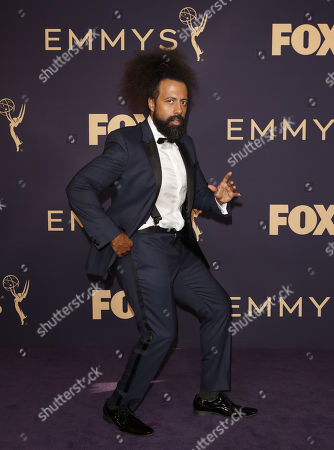 Stock Picture of Reggie Watts arrives for the 71st annual Primetime Emmy Awards ceremony held at the Microsoft Theater in Los Angeles, California, USA, 22 September 2019. The Primetime Emmys celebrate excellence in national primetime television broadcasting.