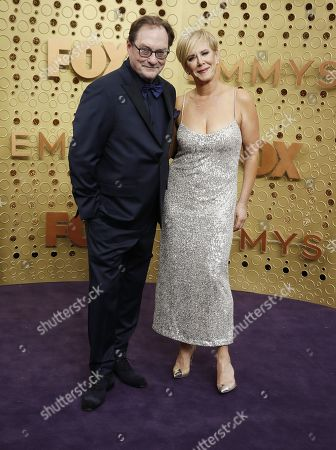 Stock Photo of Stephen Root and Romy Rosemont arrive for the 71st annual Primetime Emmy Awards ceremony held at the Microsoft Theater in Los Angeles, California, USA, 22 September 2019. The Primetime Emmys celebrate excellence in national primetime television broadcasting.