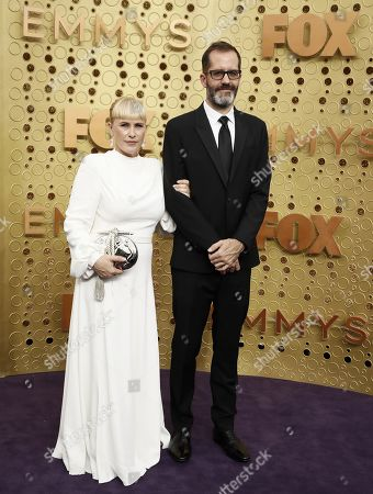 Patricia Arquette and Eric White arrives for the 71st annual Primetime Emmy Awards ceremony held at the Microsoft Theater in Los Angeles, California, USA, 22 September 2019. The Primetime Emmys celebrate excellence in national primetime television broadcasting.