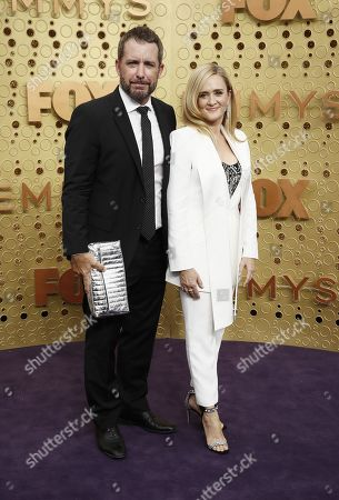 Samantha Bee (R) and Jason Jones arrives for the 71st annual Primetime Emmy Awards ceremony held at the Microsoft Theater in Los Angeles, California, USA, 22 September 2019. The Primetime Emmys celebrate excellence in national primetime television broadcasting.