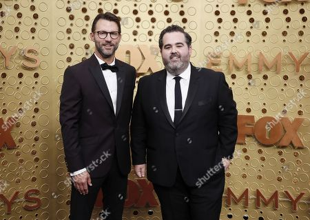 Jonathan King and Barry Welsh arrives for the 71st annual Primetime Emmy Awards ceremony held at the Microsoft Theater in Los Angeles, California, USA, 22 September 2019. The Primetime Emmys celebrate excellence in national primetime television broadcasting.