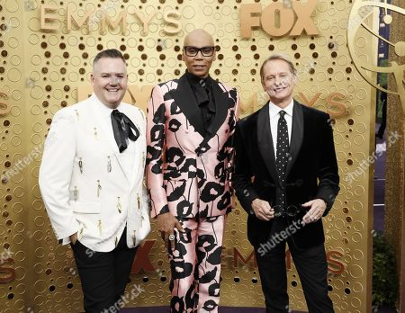 Ross Matthews, RuPaul and Carson Kressley arrive for the 71st annual Primetime Emmy Awards ceremony held at the Microsoft Theater in Los Angeles, California, USA, 22 September 2019. The Primetime Emmys celebrate excellence in national primetime television broadcasting.