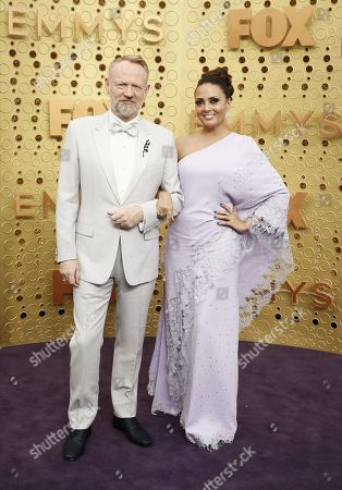 Jared Harris and Allegra Riggio arrives for the 71st annual Primetime Emmy Awards ceremony held at the Microsoft Theater in Los Angeles, California, USA, 22 September 2019. The Primetime Emmys celebrate excellence in national primetime television broadcasting.
