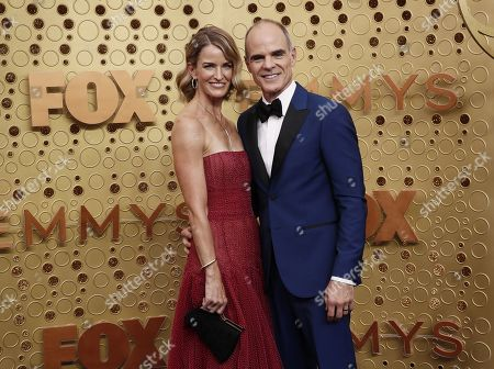 Michael Kelly (R) and Karen Kelly (L) arrive for the 71st annual Primetime Emmy Awards ceremony held at the Microsoft Theater in Los Angeles, California, USA, 22 September 2019. The Primetime Emmys celebrate excellence in national primetime television broadcasting.