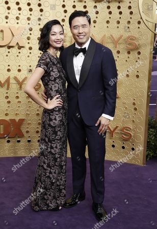 Randall Park (R) and Jae Sun Park arrives for the 71st annual Primetime Emmy Awards ceremony held at the Microsoft Theater in Los Angeles, California, USA, 22 September 2019. The Primetime Emmys celebrate excellence in national primetime television broadcasting.