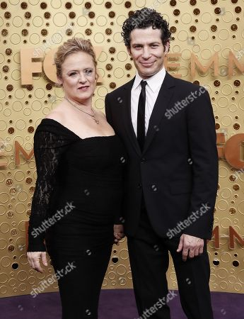 Thomas Kail (R) and Nicole Fosse arrives for the 71st annual Primetime Emmy Awards ceremony held at the Microsoft Theater in Los Angeles, California, USA, 22 September 2019. The Primetime Emmys celebrate excellence in national primetime television broadcasting.
