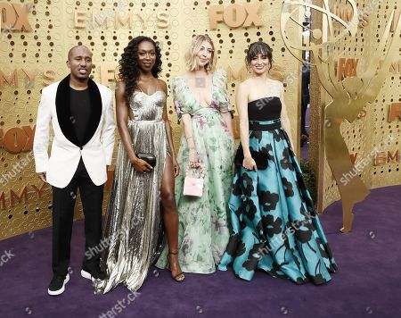 Chris Redd, Ego Nwodim, Heidi Gardner and Melissa Villasenor arrives for the 71st annual Primetime Emmy Awards ceremony held at the Microsoft Theater in Los Angeles, California, USA, 22 September 2019. The Primetime Emmys celebrate excellence in national primetime television broadcasting.