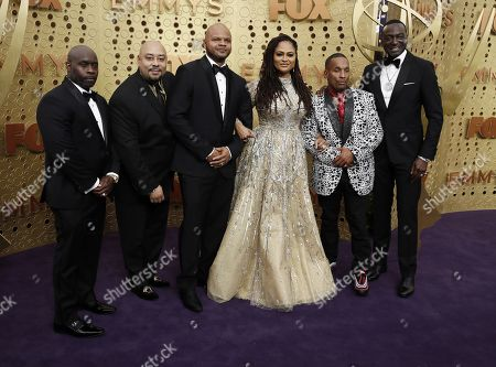 Antron McCay, Kevin Richardson, Raymond Santana, Ava Duvernay, Korey Wise and Yusef Salaam arrive for the 71st annual Primetime Emmy Awards ceremony held at the Microsoft Theater in Los Angeles, California, USA, 22 September 2019. The Primetime Emmys celebrate excellence in national primetime television broadcasting.