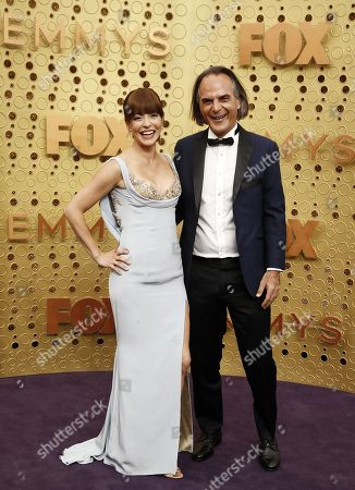 Emmanuelle Vaugier and Vince Calandra arrives for the 71st annual Primetime Emmy Awards ceremony held at the Microsoft Theater in Los Angeles, California, USA, 22 September 2019. The Primetime Emmys celebrate excellence in national primetime television broadcasting.