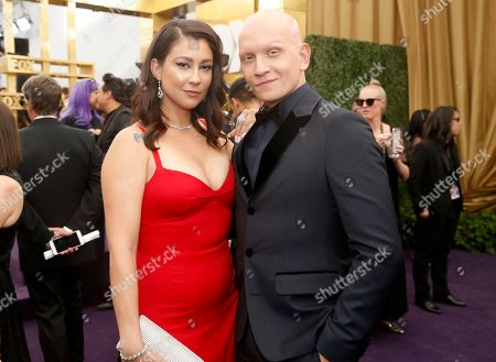 Gia Olimp, Anthony Carrigan. Gia Olimp and Anthony Carrigan arrive at the 71st Primetime Emmy Awards, at the Microsoft Theater in Los Angeles