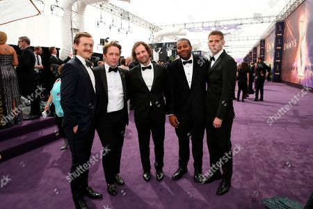 Alex Moffat, Beck Bennett, Kyle Mooney, Kenan Thompson, Mikey Day. Alex Moffat, Beck Bennett, Kyle Mooney, Kenan Thompson, and Mikey Day arrive at the 71st Primetime Emmy Awards, at the Microsoft Theater in Los Angeles