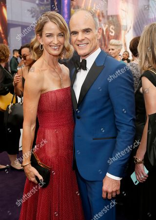 Michael Kelly, Karyn Kelly. Karyn Kelly and Michael Kelly arrives at the 71st Primetime Emmy Awards, at the Microsoft Theater in Los Angeles