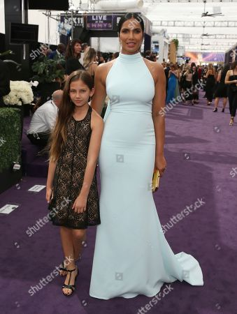 Padma Lakshmi, Krishna Lakshmi. Krishna Lakshmi and Padma Lakshmi arrive at the 71st Primetime Emmy Awards, at the Microsoft Theater in Los Angeles