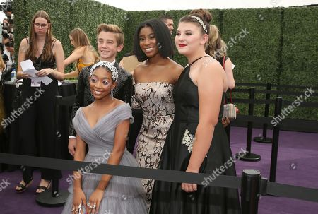 Eris Baker, Lyric Ross, Mackenzie Hancsicsak. Eris Baker, Lyric Ross and Mackenzie Hancsicsak arrive at the 71st Primetime Emmy Awards, at the Microsoft Theater in Los Angeles