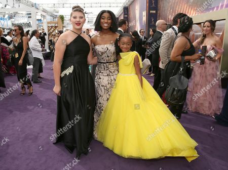Mackenzie Hancsicsak, Lyric Ross, Faithe Herman. Mackenzie Hancsicsak, Lyric Ross, and Faithe Herman arrive at the 71st Primetime Emmy Awards, at the Microsoft Theater in Los Angeles