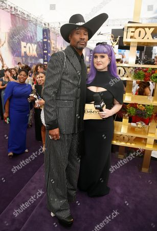 Billy Porter and Kelly Osbourne arrive at the 71st Primetime Emmy Awards, at the Microsoft Theater in Los Angeles