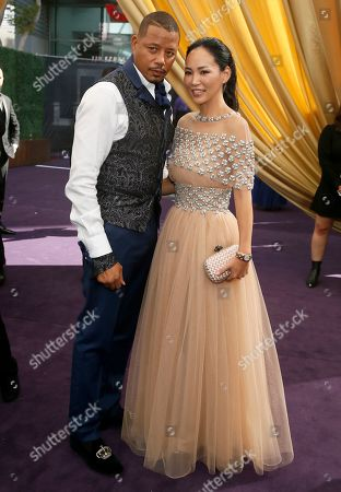 Terrence Howard, Mira Pak. Terrence Howard and Mira Pak arrive at the 71st Primetime Emmy Awards, at the Microsoft Theater in Los Angeles