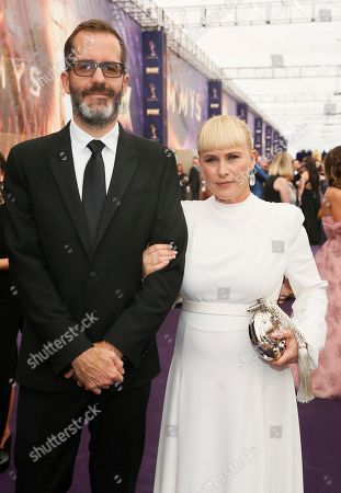 Eric White, Patricia Arquette. Eric White and Patricia Arquette arrive at the 71st Primetime Emmy Awards, at the Microsoft Theater in Los Angeles