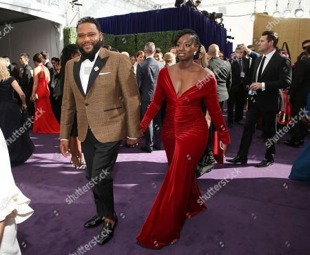 Anthony Anderson, Alvina Stewart. Anthony Anderson and Alvina Stewart arrives at the 71st Primetime Emmy Awards, at the Microsoft Theater in Los Angeles