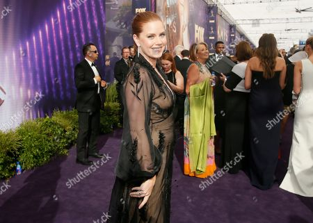 Amy Adams arrives at the 71st Primetime Emmy Awards, at the Microsoft Theater in Los Angeles