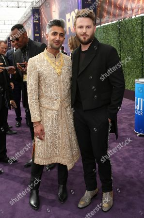 Tan France, Bobby Berk. Tan France, left, and Bobby Berk arrive at the 71st Primetime Emmy Awards, at the Microsoft Theater in Los Angeles