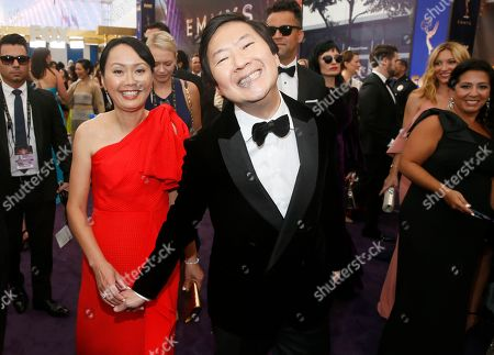 Tran Jeong, Ken Jeong. Tran Jeong and Ken Jeong arrive at the 71st Primetime Emmy Awards, at the Microsoft Theater in Los Angeles