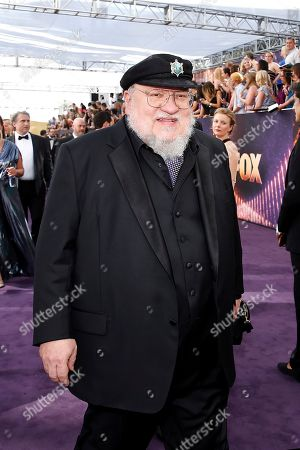 George R. R. Martin arrives at the 71st Primetime Emmy Awards, at the Microsoft Theater in Los Angeles