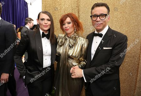 Fred Armisen, Natasha Lyonne, Clea DuVall. Clea DuVall, Natasha Lyonne and Fred Armisen arrive at the 71st Primetime Emmy Awards, at the Microsoft Theater in Los Angeles