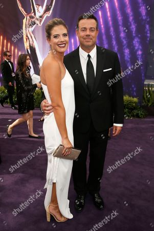 Siri Pinter, Carson Daly. Siri Pinter and Carson Daly arrive at the 71st Primetime Emmy Awards, at the Microsoft Theater in Los Angeles