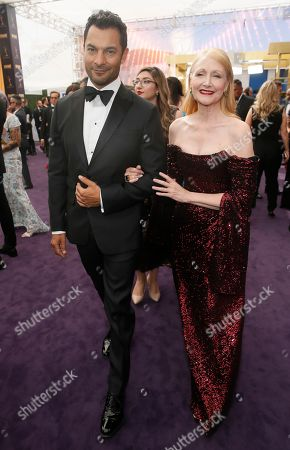Darwin Shaw, Patricia Clarkson. Darwin Shaw and Patricia Clarkson arrive at the 71st Primetime Emmy Awards, at the Microsoft Theater in Los Angeles