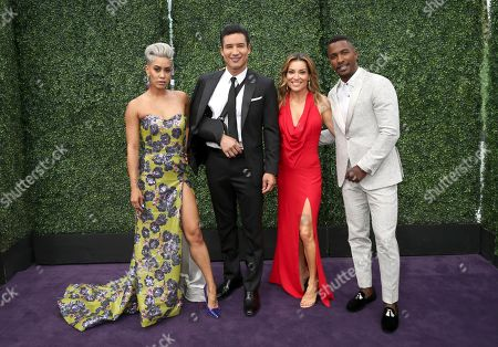 Sibley Scoles, Mario Lopez, Kit Hoover, Scott Evans. Sibley Scoles, from left, Mario Lopez, Kit Hoover and Scott Evans arrive at the 71st Primetime Emmy Awards, at the Microsoft Theater in Los Angeles