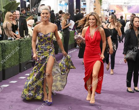 Sibley Scoles, Kit Hoover. Sibley Scoles, left, and Kit Hoover arrive at the 71st Primetime Emmy Awards, at the Microsoft Theater in Los Angeles