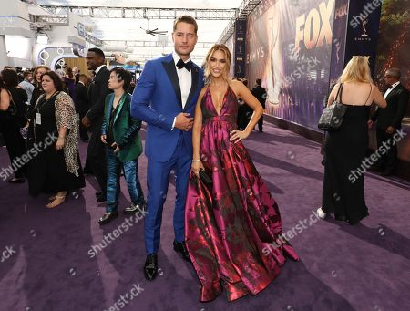Justin Hartley, Chrishell Stause. Justin Hartley, left, and Chrishell Stause arrive at the 71st Primetime Emmy Awards, at the Microsoft Theater in Los Angeles