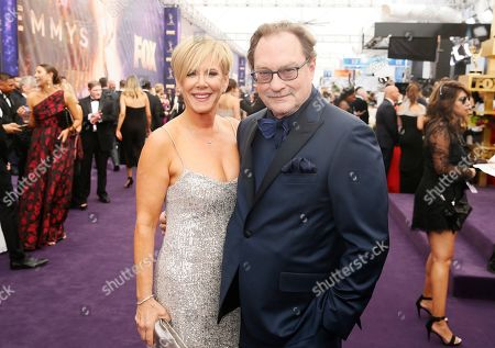 Stephen Root, Romy Rosemont. Stephen Root, right, and Romy Rosemont arrive at the 71st Primetime Emmy Awards, at the Microsoft Theater in Los Angeles