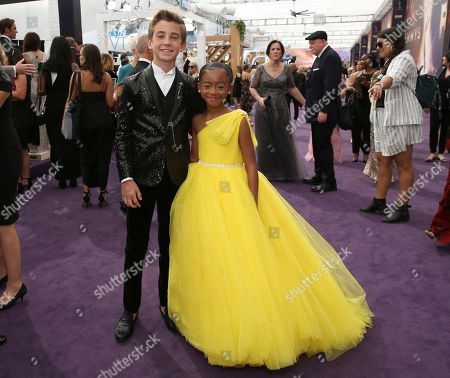 Parker Bates, Faithe Herman. Parker Bates, left, and Faithe Herman arrive at the 71st Primetime Emmy Awards, at the Microsoft Theater in Los Angeles